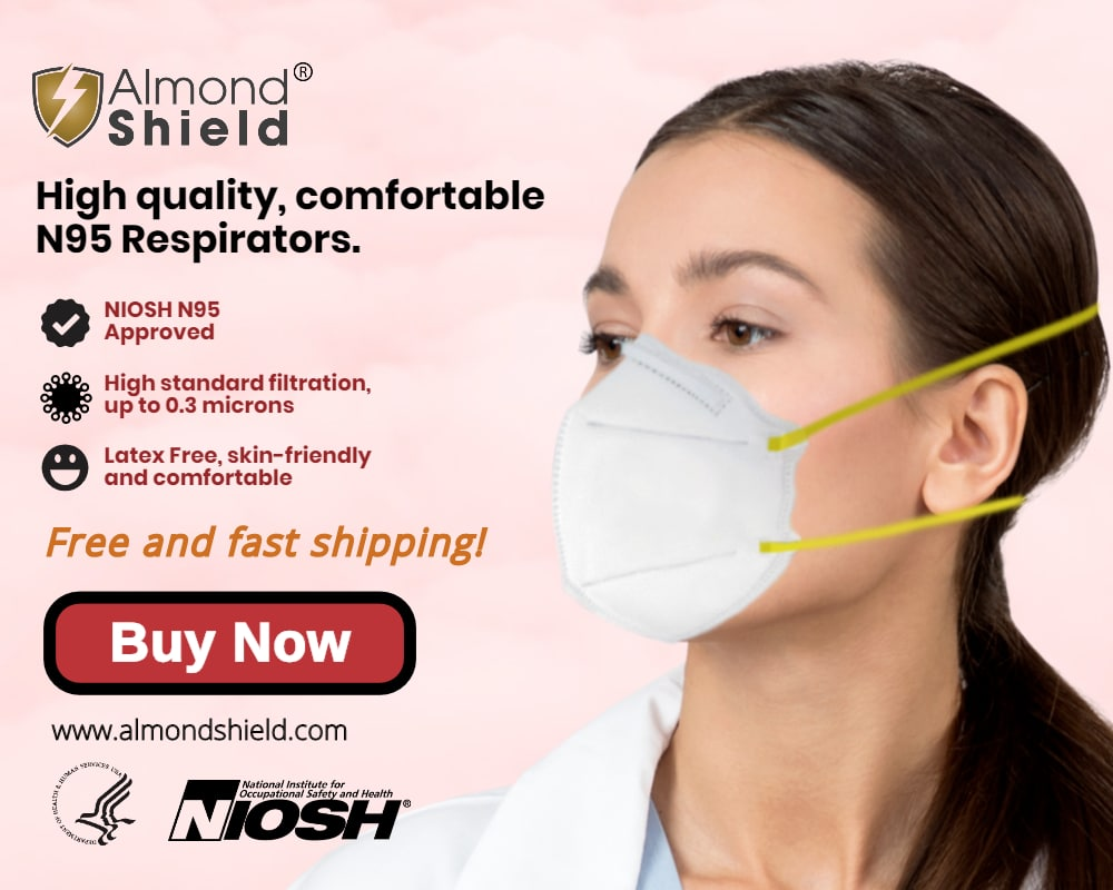 N95 filtering facepiece respirators from Almond Shield.