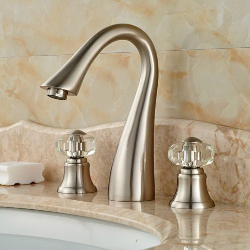 Sink with knob handles.