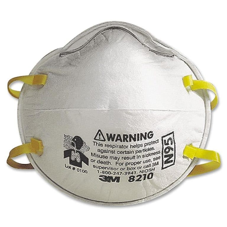 Genuine 3M 8210 N95 mask.